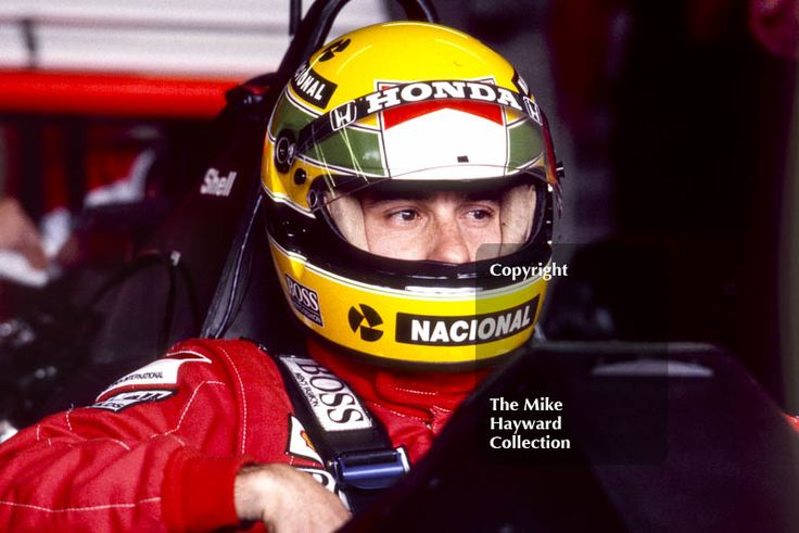 Ayrton Senna, McLaren MP4/5, Honda V10, during practice for the British Grand Prix, Silverstone, 1989. #f1 #formula1