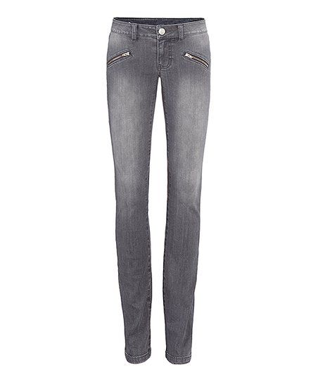 47c4bc874e1 cabi Graphite Zip Skinny Jeans - Women | zulily | My Style | Jeans ...