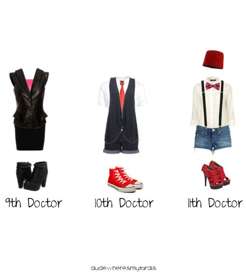 dudewheresmytardis:  For the Time Lady. Female Doctor Who outfits.