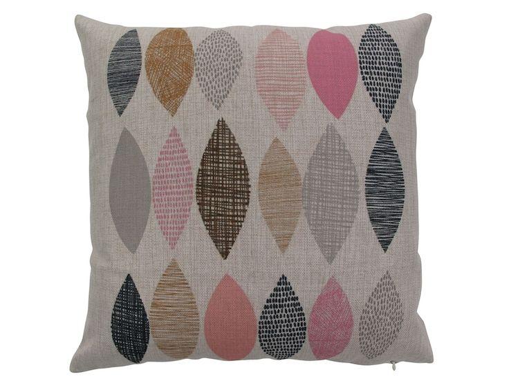 hardtofind. | Leaf pink cushion cover
