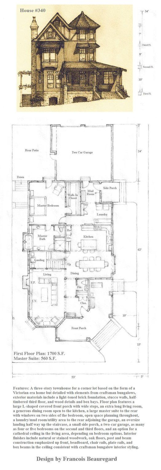 86 best house plans and architecture images on pinterest latest version of house plan with the perspective portrait on top and all the plans i have for it thus far all pencil drawings done by hand as usual