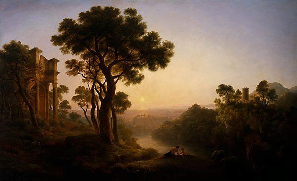 John Glover (Australia, England 18 Feb 1767–09 Dec 1849) Classical landscape - circa 1820