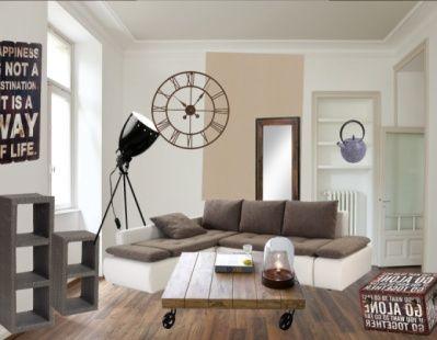 tr s tendance la pi ce de la semaine on aime le style industriel et pur de ce salon cliquez. Black Bedroom Furniture Sets. Home Design Ideas