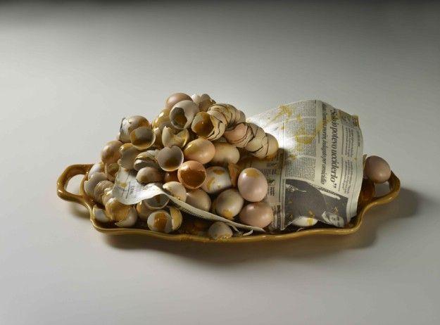 Bertozzi & Casoni. Vassoio, 2009. Glazed ceramic, 20 x 35,5 x 60cm. Private Collection.