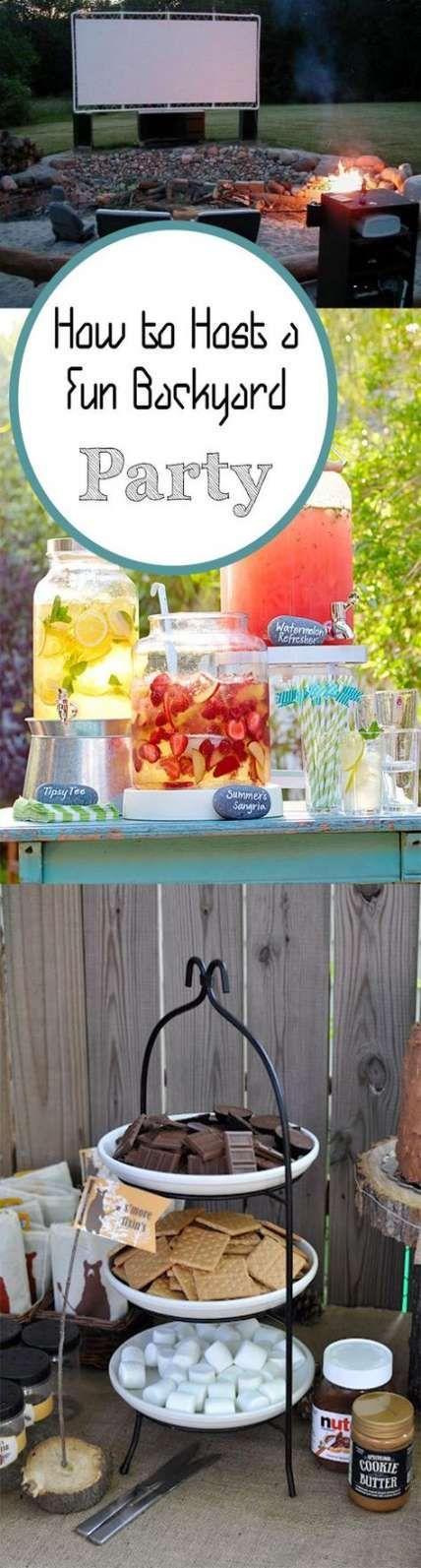 Backyard party ideas for adults birthdays families 53 Best ideas
