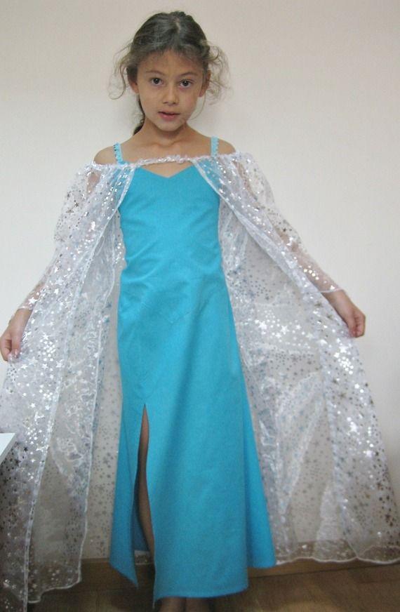 Robe de la reine des neiges , déguisement fille