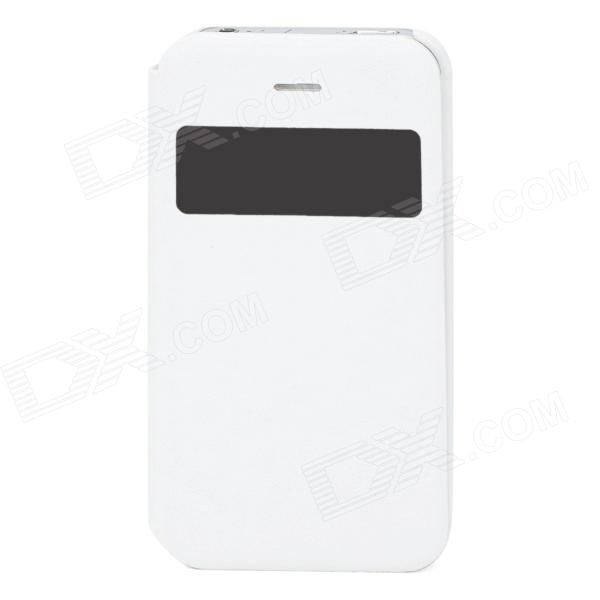Brand: N/A; Quantity: 1 Piece; Color: White; Material: PU Leather + PC; Compatible Models: Iphone 4 / 4S; Auto Wake-up / Sleep: NO; Other Features: Protects your device from dust scratches and shock; Packing List: 1 x Case; http://j.mp/1toqs4r