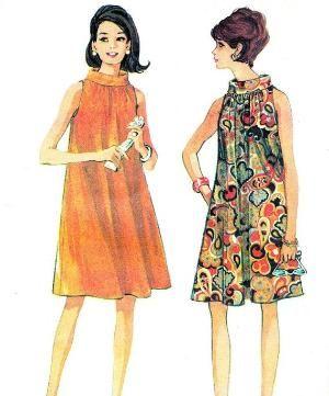 Выкройка платья 1960-х годов Mccallsдля 8826 рукавов мод воронка шеи палатка платье младший подросток Винтажная Швейная Бюст 31 по Шарлин