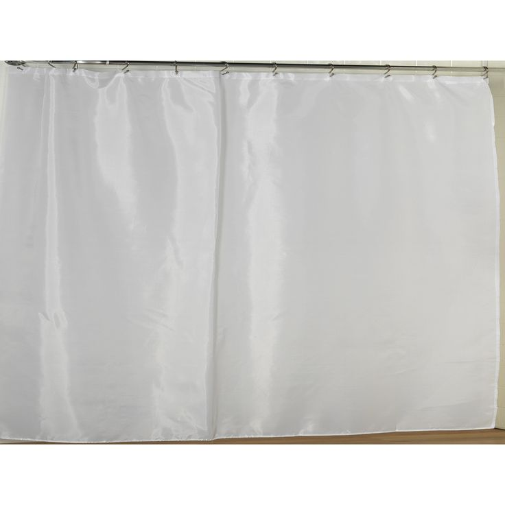 Carnation Home Fashions Fabric Shower Curtain Liner with Weighted Bottom Hem - Extra Wide Size 108 - SC-FAB/108/08