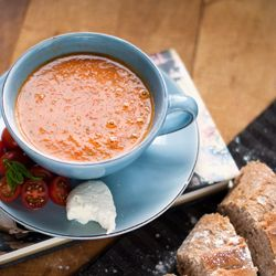 Roasted Cherry Tomato Soup for the last few days of summer