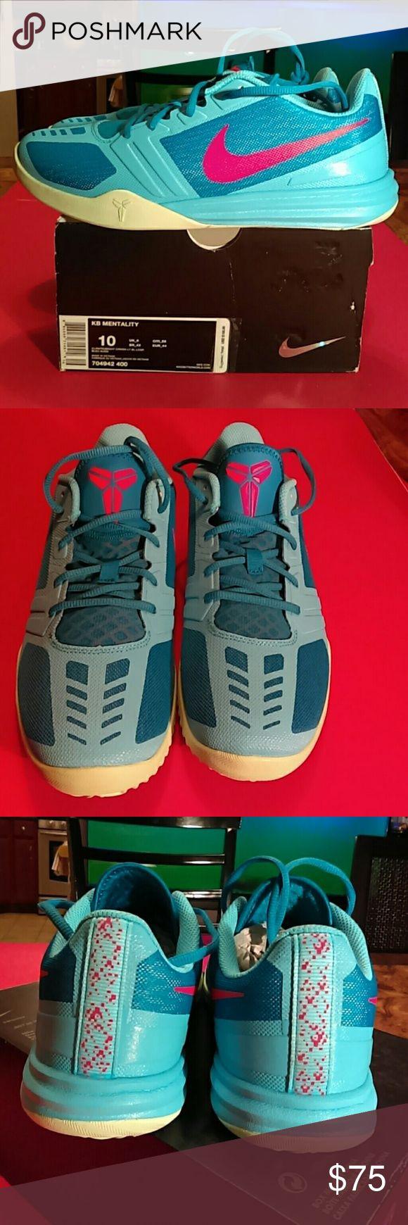 BRAND New  NIKE KOBE  Men  sneaker Nike   KOBE    Mentality     Unisex. Men 10 women 11.5.                                                                                                Super comfy Color: clear water/bright crimson/light blue Nike Shoes Sneakers