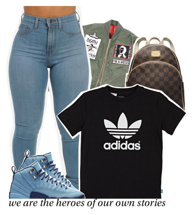 """Untitled #812"" by raeebabyy ❤ liked on Polyvore featuring MICHAEL Michael Kors and adidas Originals"