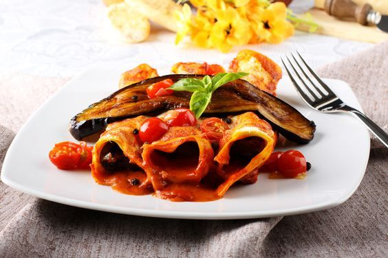 Cannellonis aux aubergines