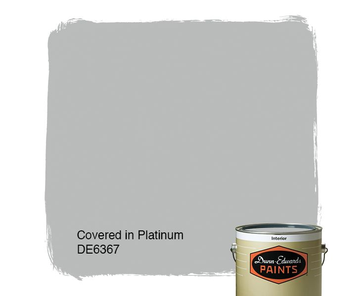 Dunn-Edwards Paints paint color: Covered in Platinum DE6367 | Click for a free color sample #DunnEdwards