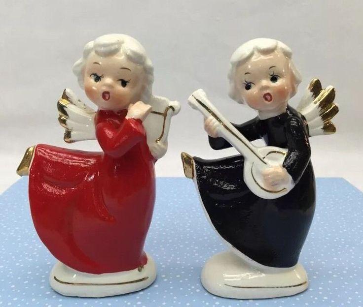 Vintage Christmas Decorations Mouse Carolers Set Jasco: 17 Best Images About Salt N Pepper Shakers On Pinterest