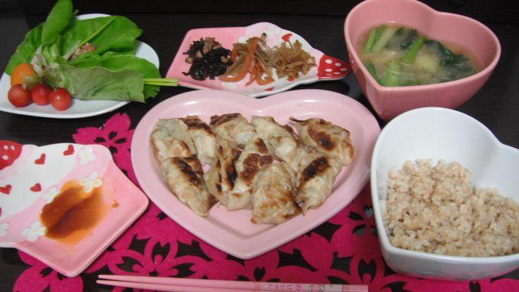 My dinner =^-^= 今日の晩ご飯。