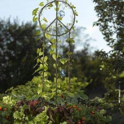 ☮ American Hippie Bohéme Boho Lifestyle ☮ Garden Peace Sign