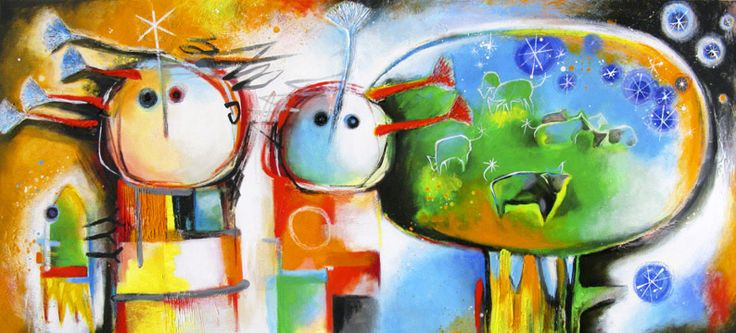 """El prado"", 75 x 175, acrylics and various materials on canvas"