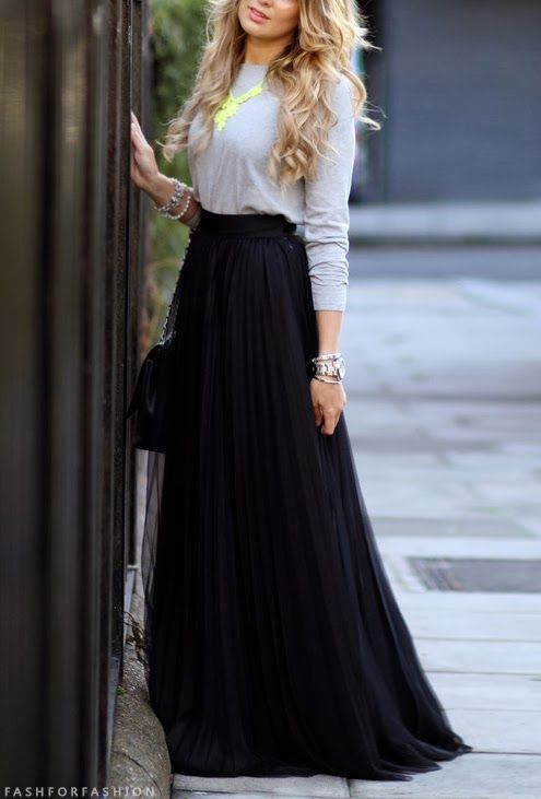 Long Black Skirt by Chana
