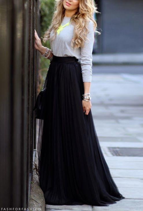 Длинные черные юбки с Chana