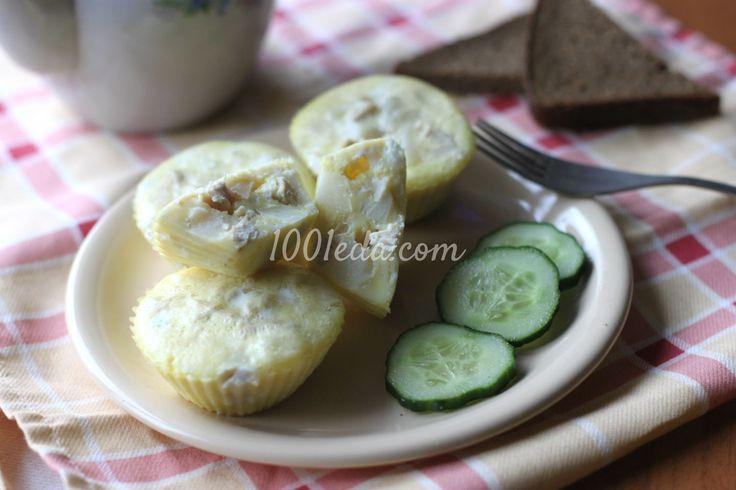 Яичные кексы с куриной грудкой, картофелем и пармезаном в мультиварке