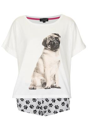 Must have these pjs! This way I can pretend I have my future pug already