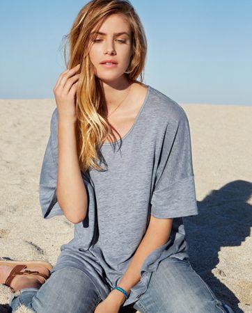Suki Linen T-Shirt - Wrap