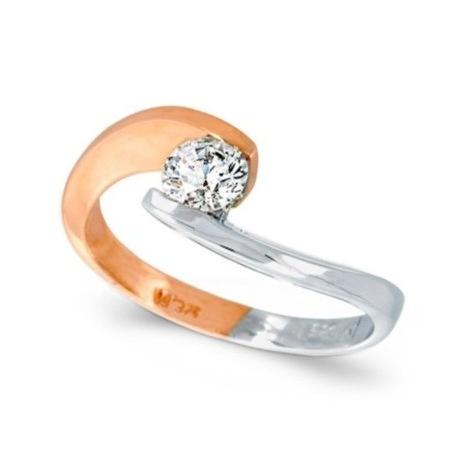 White and pink gold k14  Diamond