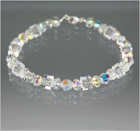 Swarovski Crystal Bracelets | Swarovski Crystal Bracelet - Exquisite Handcrafted Beaded Jewelry ...