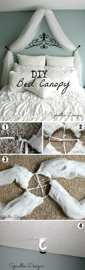 Check out how to make an easy DIY bed canopy. Not a fan for the bed, but a dessert table, yup! @istandarddesign