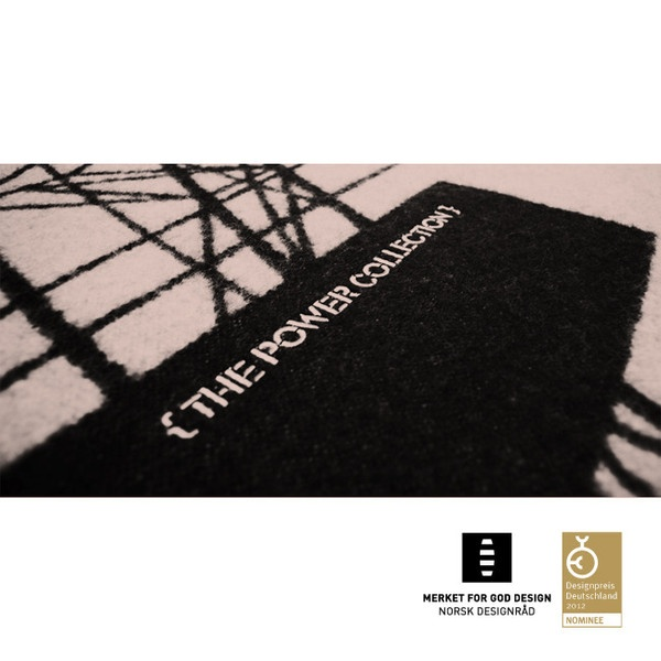 AWARD WINNING BLANKET, 100% Pure New Wool, pink & black, limited edition, 200 x 130 cm.