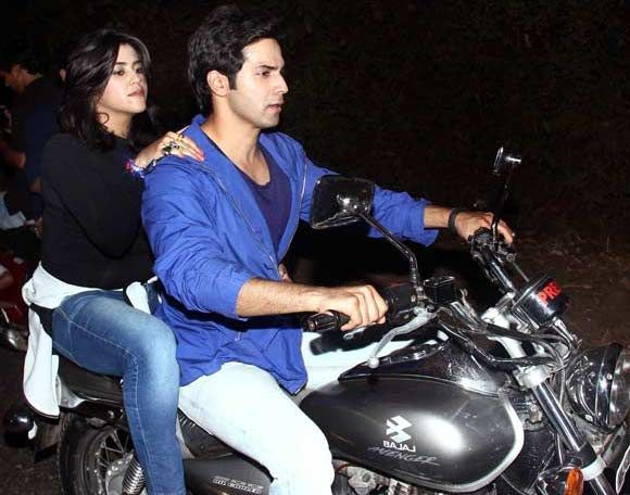 Varun Dhawan takes Ekta Kapoor on a bike ride! #VarunDhawan #EktaKapoor #VarunAndEkta