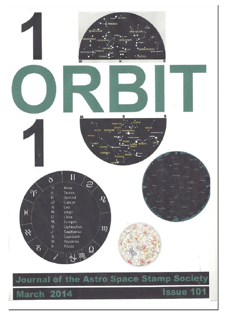 Orbit issue 101 preview (March 2014)  ORBIT is the official quarterly publication of The Astro Space Stamp Society, full of illustrations and informative space stamp and space cover articles, postal auctions, space news, and a new issues guide.
