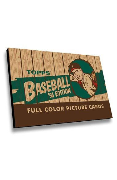 LAMP-IN-A-BOX 'Topps Baseball 1956 Heritage Card Box' Wall Art - Brown