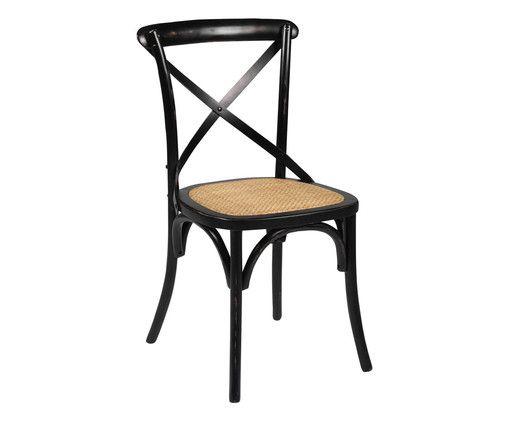 Gönnen Sie sich eine Pause! Auf GASTON wird Kaffeetrinken zu einer entspannten Ruhephase. Der Stuhl in coolem Schwarz bietet die ideale Sitzgelegenheit für Ihren Balkon oder Garten und lässt französisches Flair aufflammen. Die runden Bögen und die bequeme braun geflochtene Sitzplatte machen GASTON zu einem Schätzchen im Vintage-Stil!