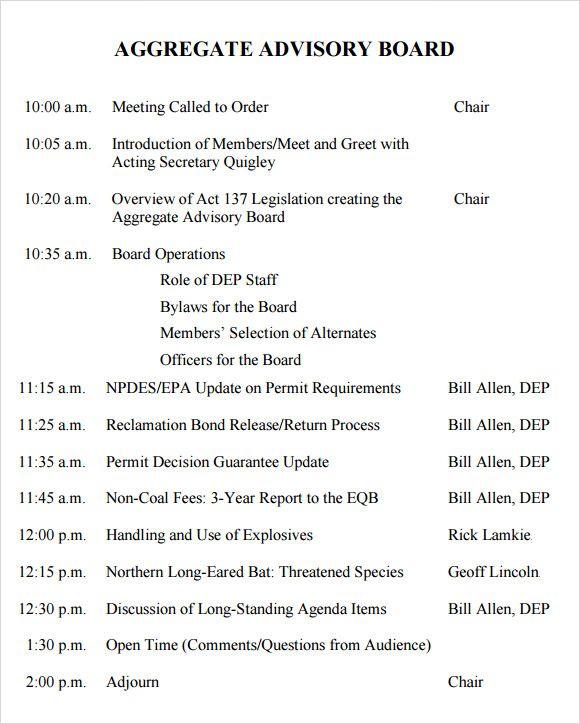 Share the agenda ahead of time. Mallainjulien Sample Board Meeting Agenda 548ac0a6 Resumesample Resumefor