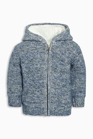 Acquista Giacca blu lavorata a maglia con fodera in sherpa (3 mesi - 6 anni) Online oggi su Next: Italia