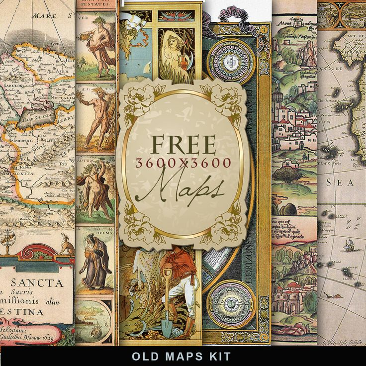 Far Far Hill - Free database of digital illustrations and papers: Freebies Old Map Kit