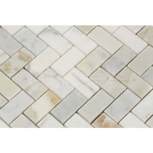 Calacatta gold italian calcutta marble honed herringbone 1 Italian marble backsplash
