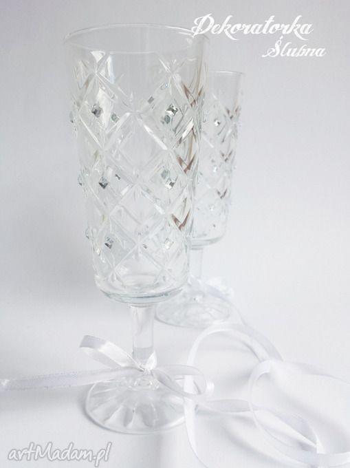 Kieliszki pary młodej kryształ sztuki szampanówki kryształki toast zestaw dwóch pięknie