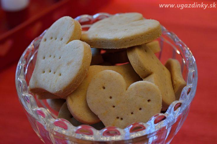Maslové srdiečkové keksíky