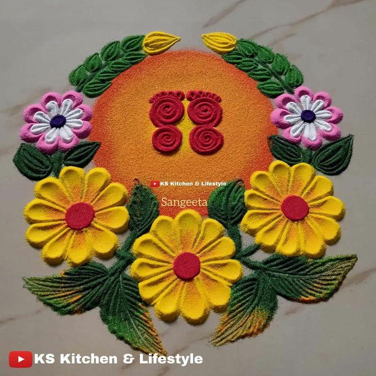 Pin by Dhanashree J on rangoli in 2020 Indian rangoli