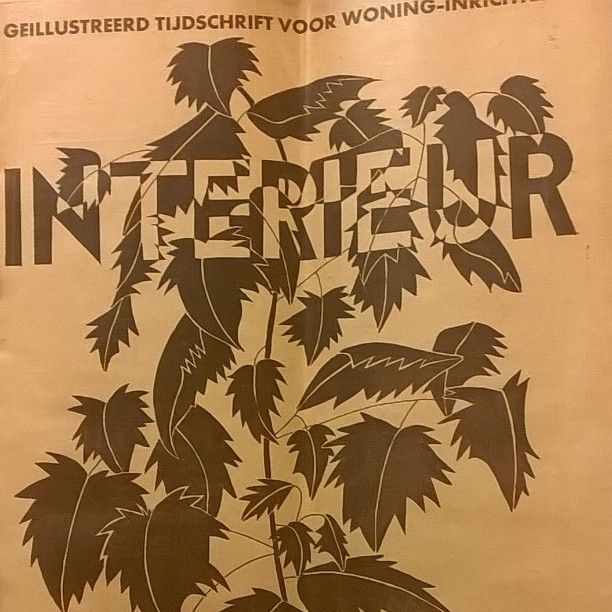 Interieur : geïllustreerd tijdschrift voor woning-inrichting. Wyers. 1937 {available in library TextielMuseum} #leaves #graphicdesign