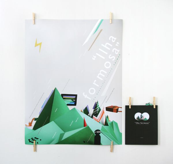 faceted mountain poster