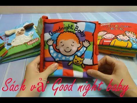 Sách vải Good night baby - Sách vải cho bé - Đồ chơi cho trẻ 1 tuổi