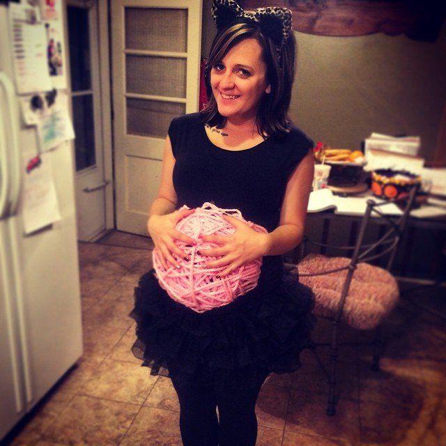 Katze & Wollknäuel Kostüm selber machen   Kostüme für Schwangere zu Karneval, Halloween & Fasching