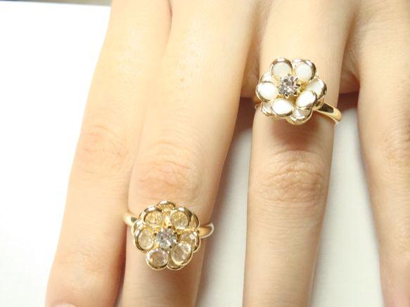 可憐なお花を指輪に仕上げました*上品な中にも豪華さがあるので、指につけていると女性らしさをアピールできます。お出かけの際には是非、指にお花を咲かせてあげてくだ... ハンドメイド、手作り、手仕事品の通販・販売・購入ならCreema。