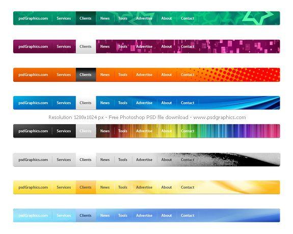 http://www.psdgraphics.com/psd/psd-website-navigation-menus-set/