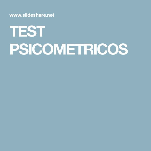 TEST PSICOMETRICOS