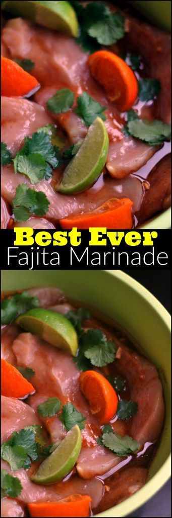 This is literally THE BEST marinade I have ever tried!  Works great for chicken and steak.  I will never try another fajita marinade again!  Love the flavor from the freshly squeezed juice!